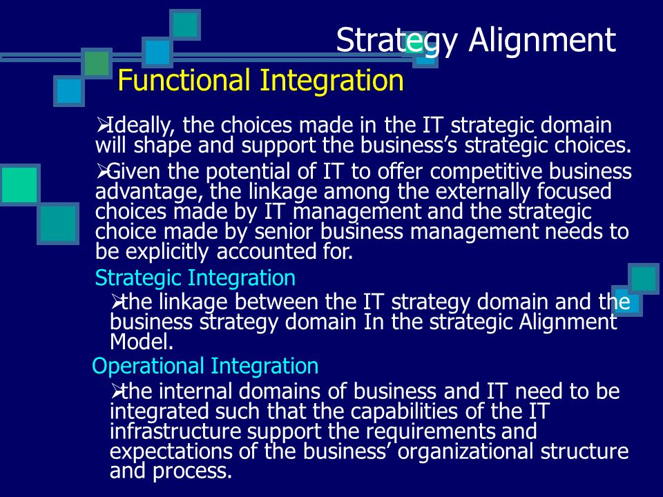 integration strategy in strategic management pdf
