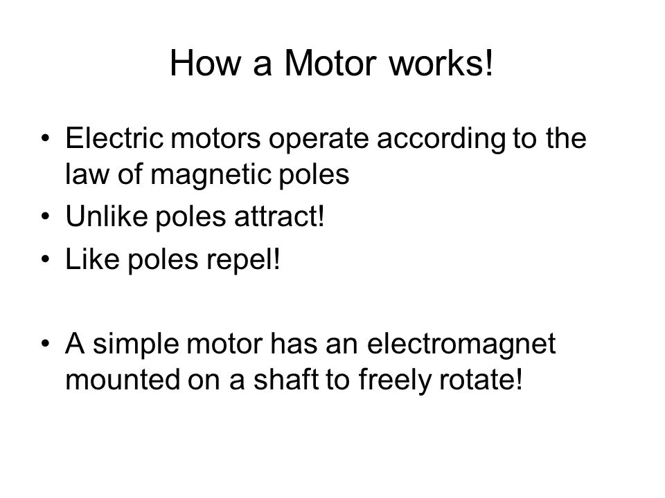 Chapter 16 electricity ppt video online download for How does a simple electric motor work