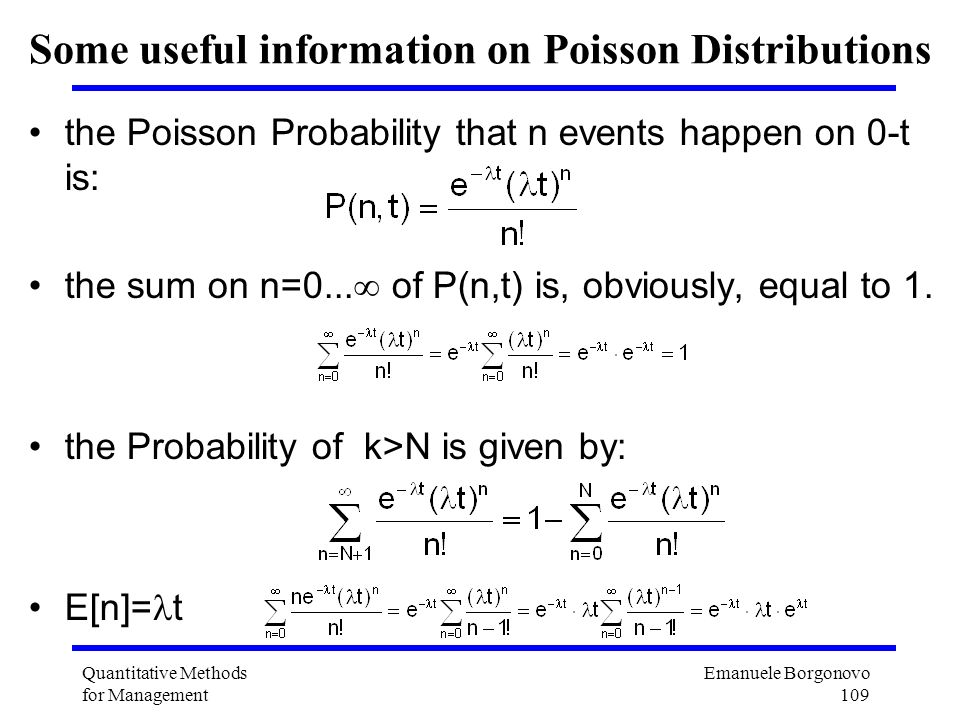 Some useful information on Poisson Distributions