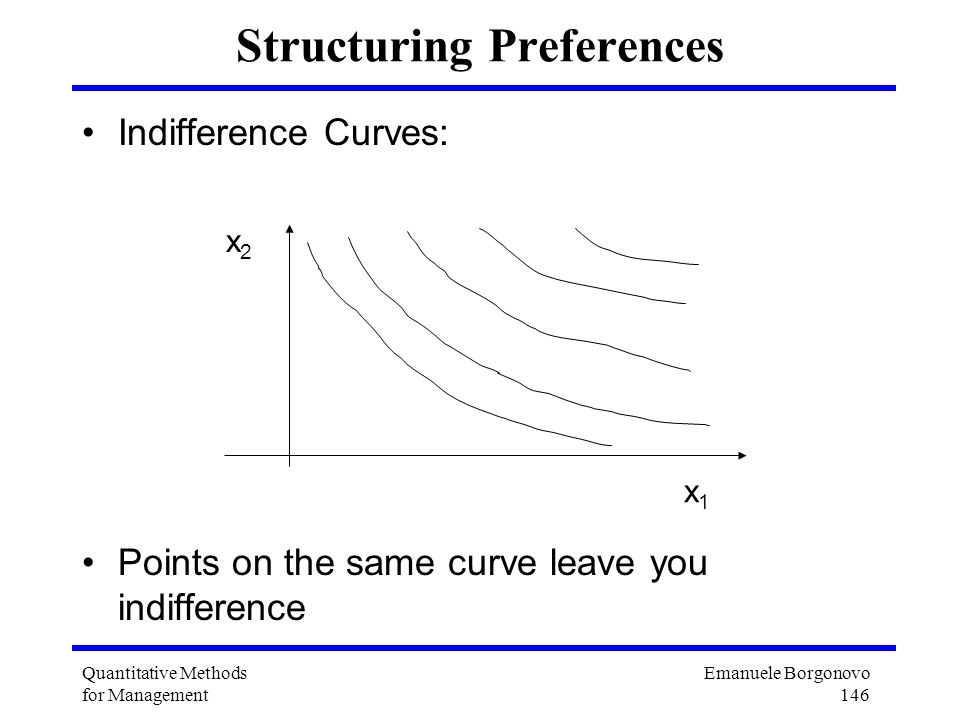 Structuring Preferences