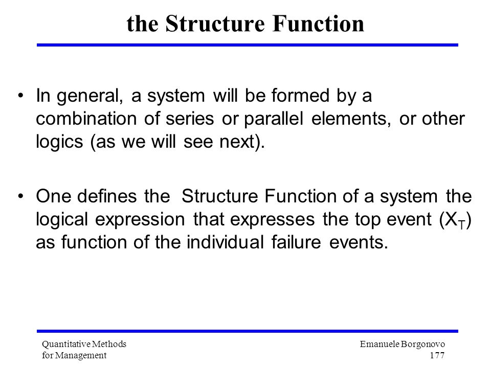 the Structure Function