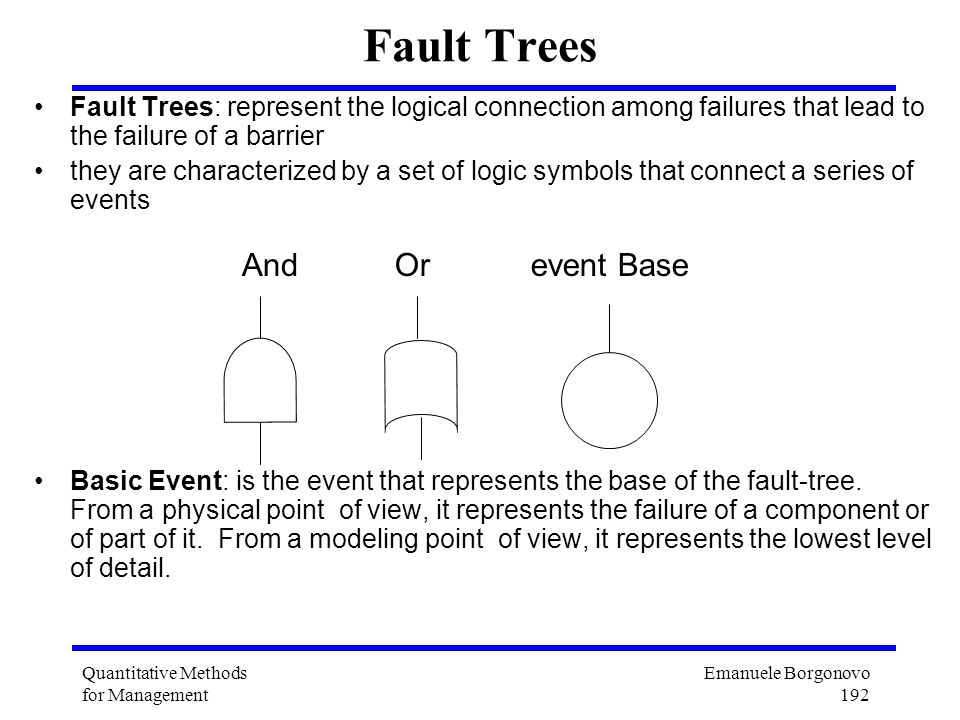 Fault Trees And Or event Base
