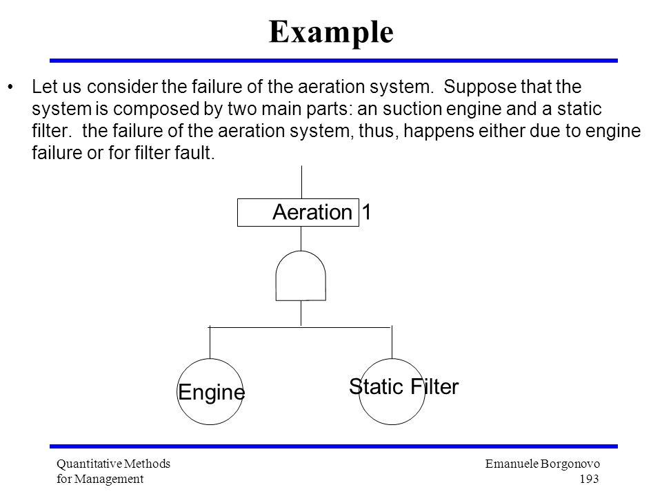 Example Aeration 1 Static Filter Engine