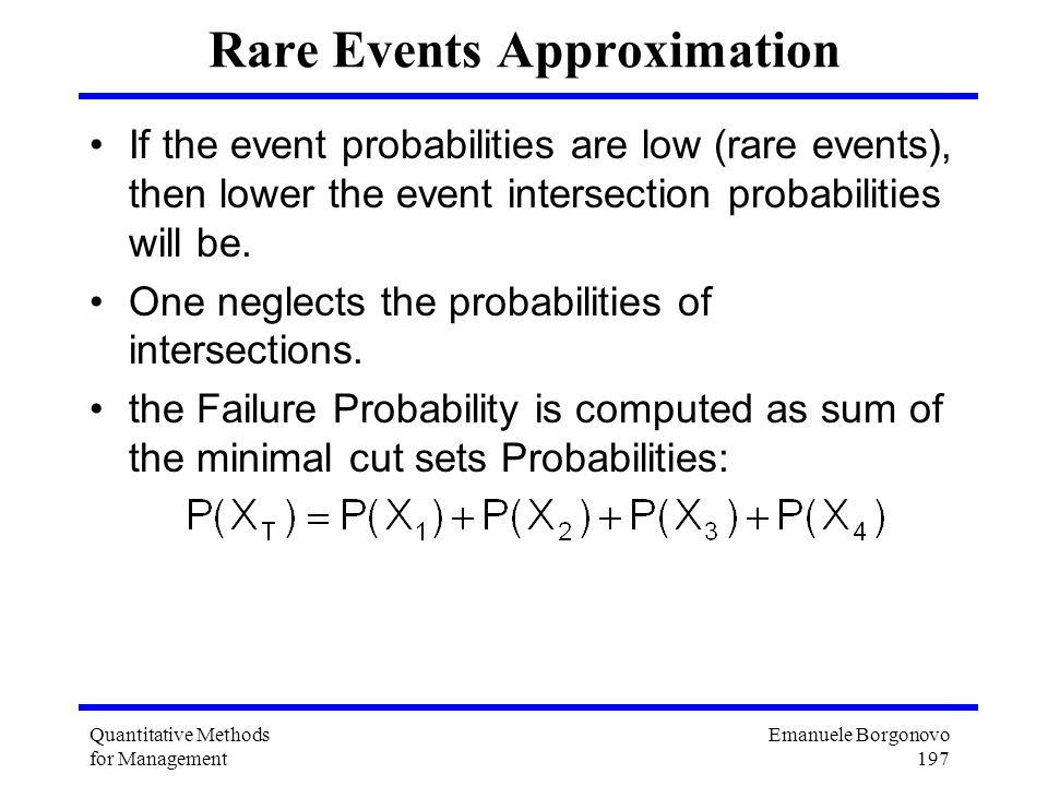 Rare Events Approximation