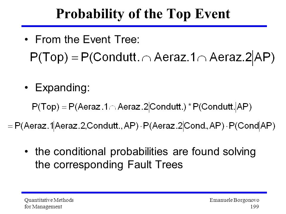 Probability of the Top Event