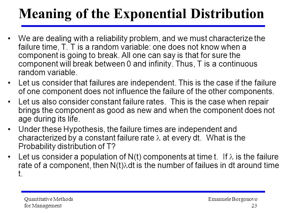 Meaning of the Exponential Distribution