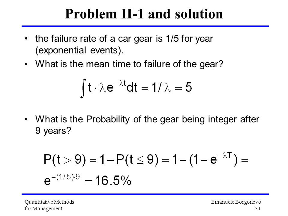 Problem II-1 and solution