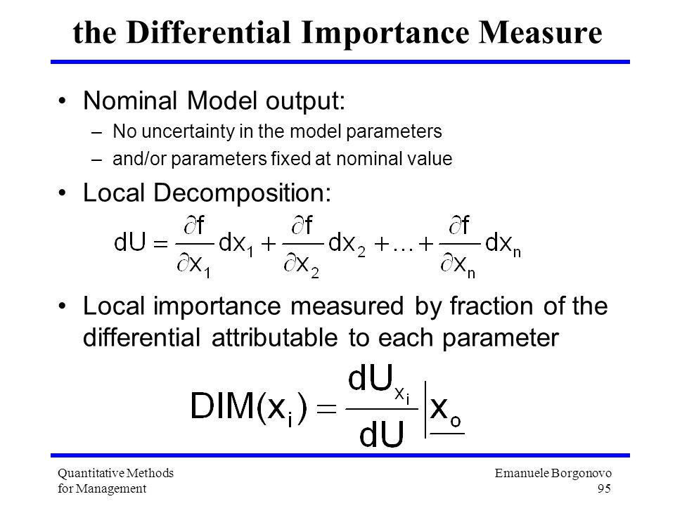 the Differential Importance Measure