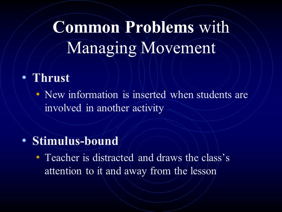 Kounin's Concepts for Managing Whole-Group Instruction ...