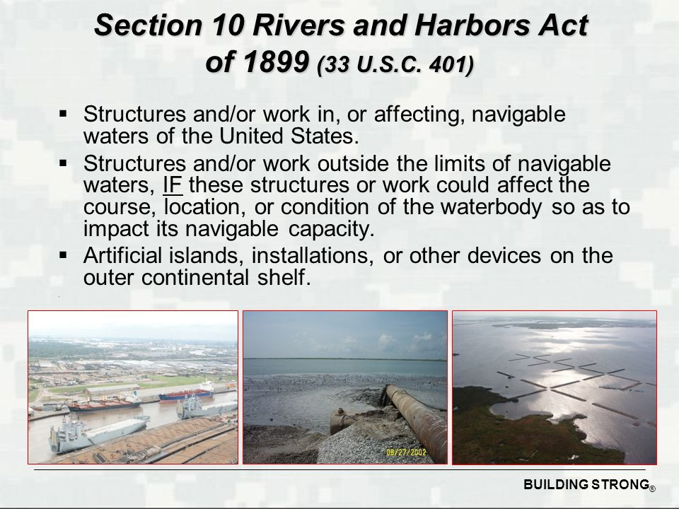 Department of army permitting process dredging ppt video online 2 section 10 publicscrutiny Images