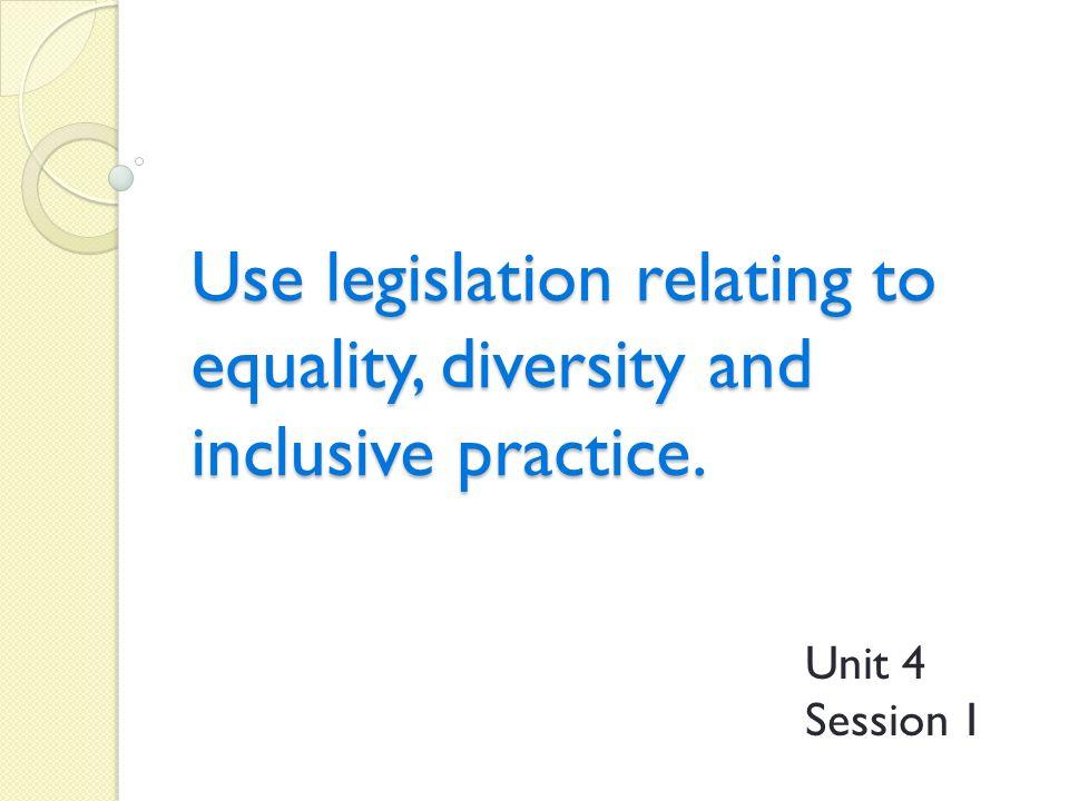 unit 306 promote equality diversity