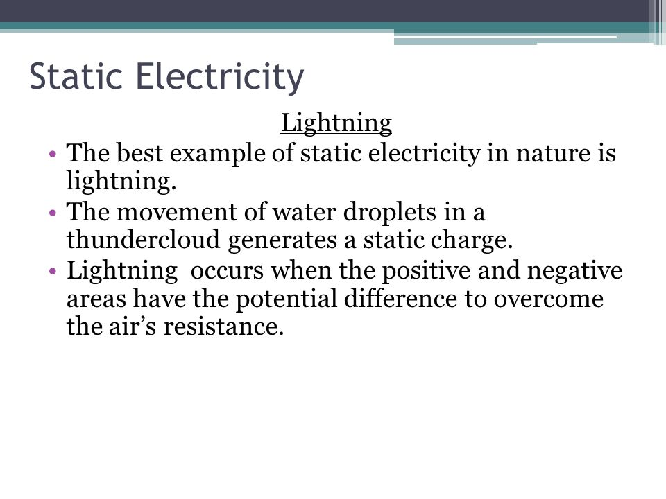 8 Static Electricity Lightning