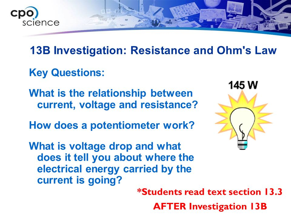 ohms law investigation Did you know that electrical current is affected by the voltage and resistance in a  circuit in this lesson, we'll use ohm's law, which tells us.
