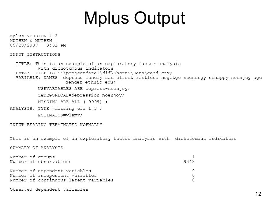 data analysis with mplus pdf
