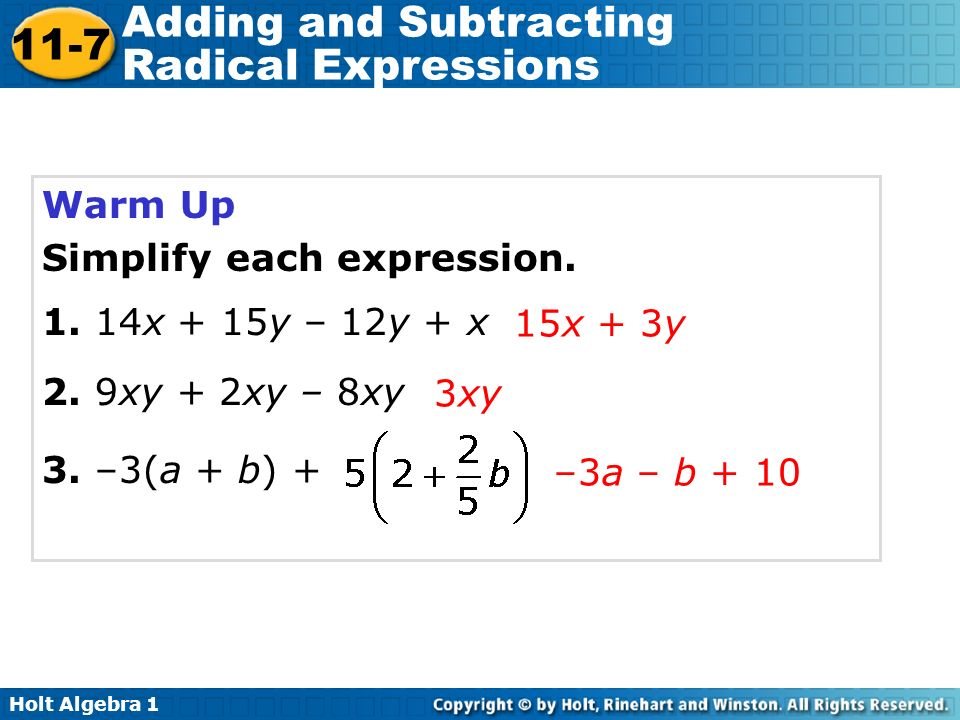 Adding and subtracting radical expressions worksheet doc