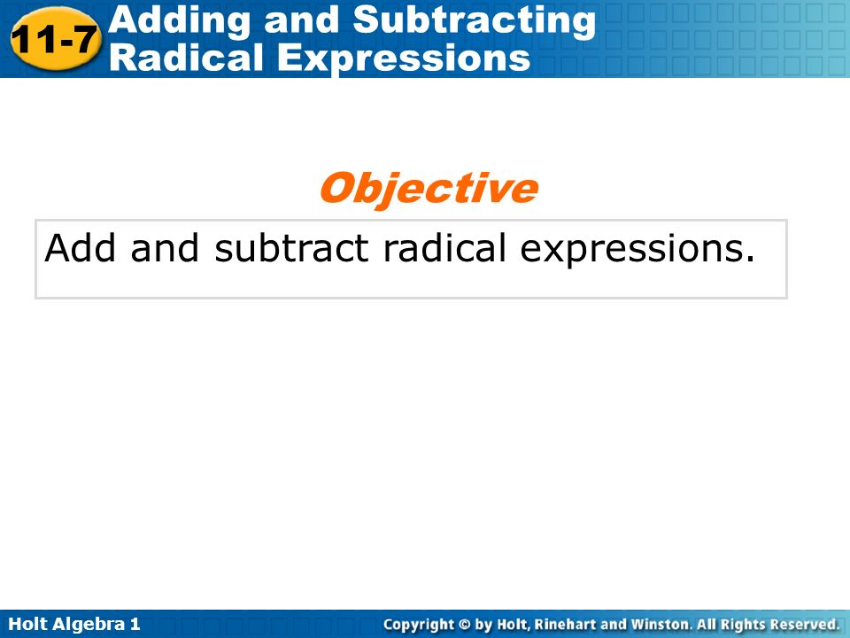 Adding and Subtracting Radical Expressions ppt download – Adding and Subtracting Radical Expressions Worksheets