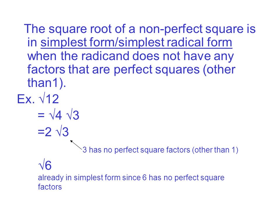 ______ Find the sides of the following squares given the area of ...