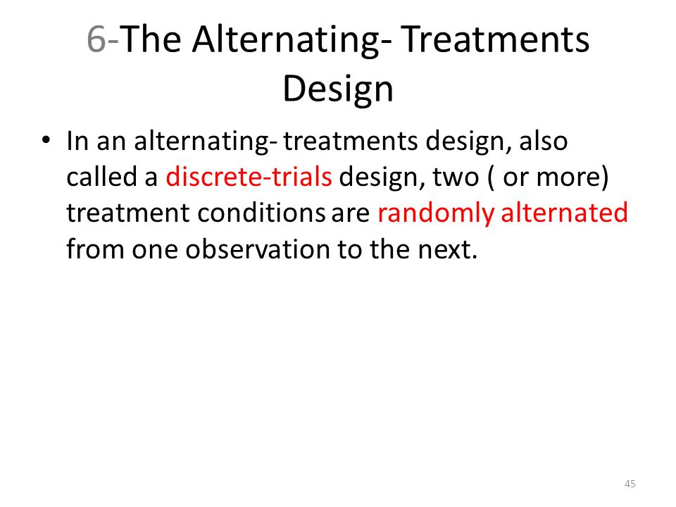 alternating treatment design