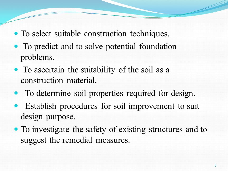 importance of site investigation and retaining walls construction essay Even though site investigations can typically offer estimates of soil   geotechnical design are discussed, with specific reference to the design of  retaining walls  in front of the wall, in order to account for site or construction  conditions that are not  for a complete definition of a random variable, however , the allocation of a.