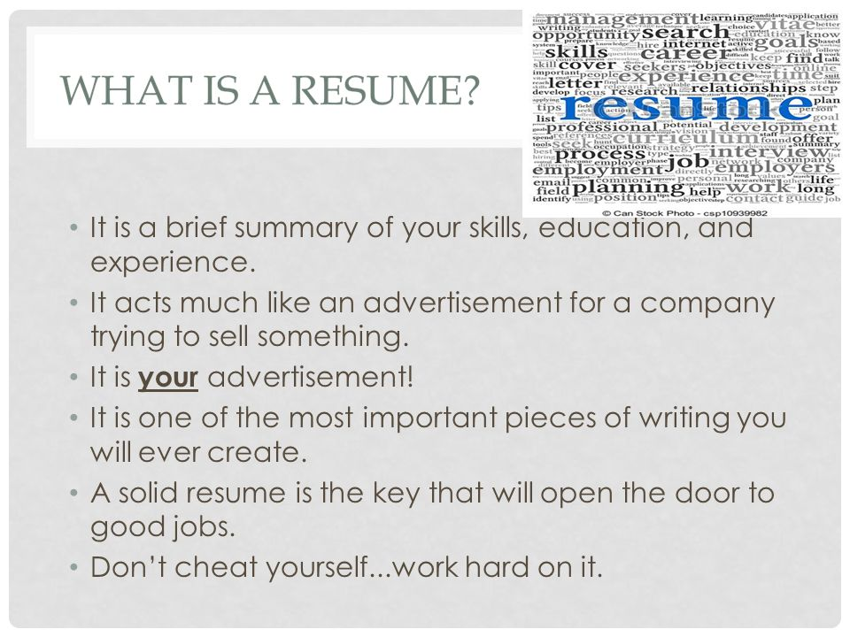 writing a resume thursday december 4th ppt