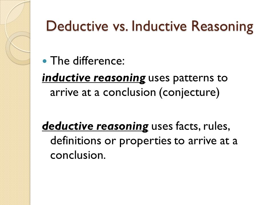deductive method versus inductive method Learn about the differences between qualitative and quantitative research methods and when to take a deductive or an inductive approach to market research.