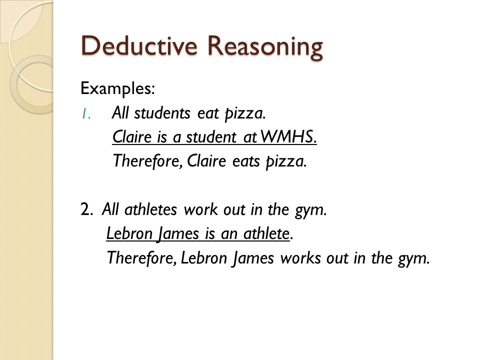 Deductive and Inductive Reasoning - ppt video online download