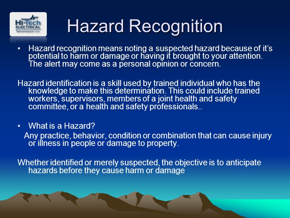 explain how to address potential health and safety risks identified Managing safety and health  here are some ways to identify safety and health hazards:  inspect your workplace for safety and health problems, current and potential.