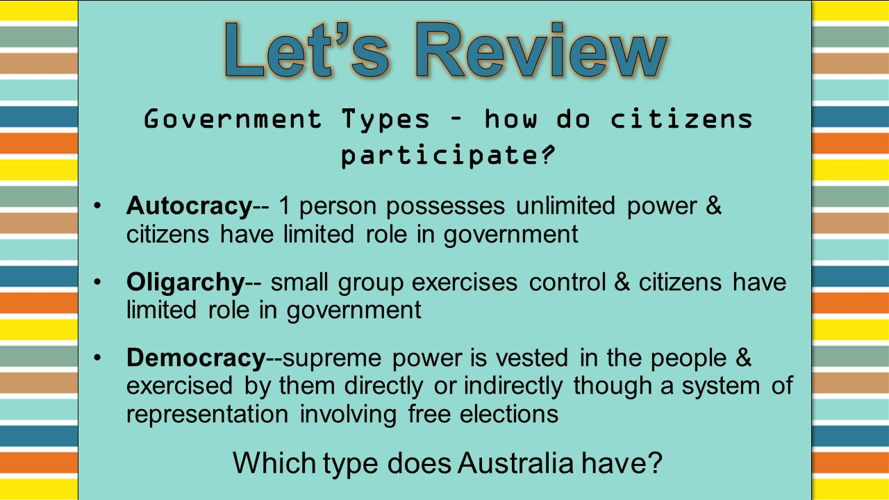 the role of the citizens in achieving a democratic government The role of political parties in constitutionalising governance  of parliament and government the role of the  of achieving democratic and.