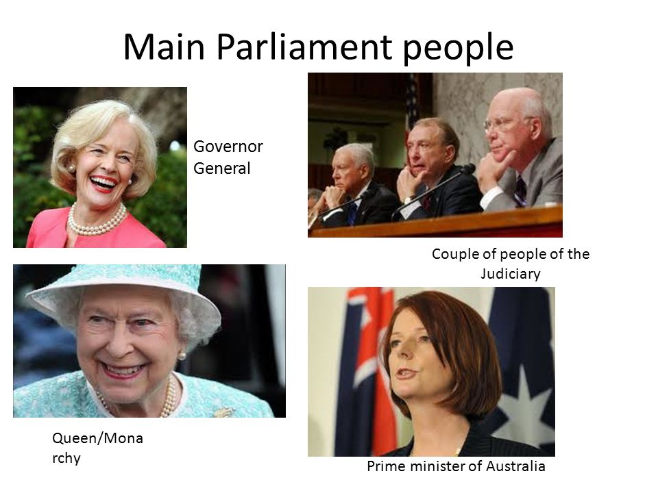 Main Parliament people