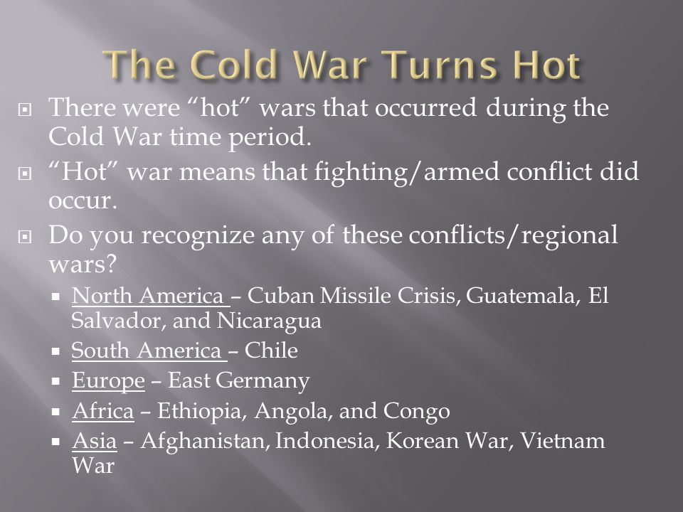 cold war study guide Study the cold war: a new history discussion and chapter questions and find the cold war: a new history study guide questions and answers.