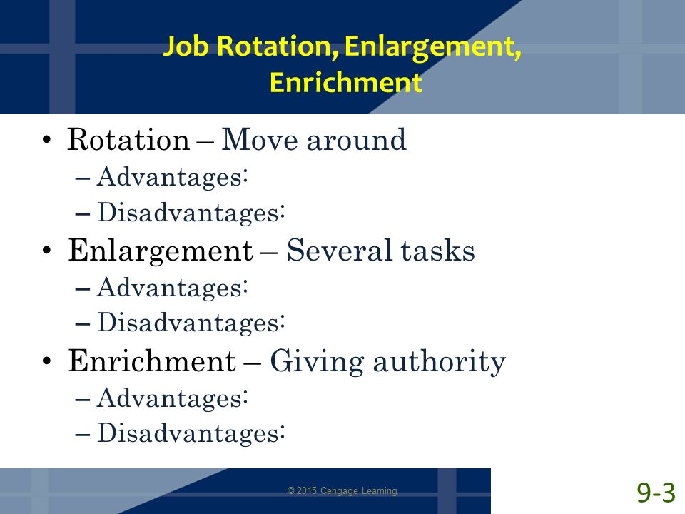 job enrichment and job rotation essay The impact of job enrichment and job enlargement on employee satisfaction keeping employee performance as intervening variable: a correlational study from.