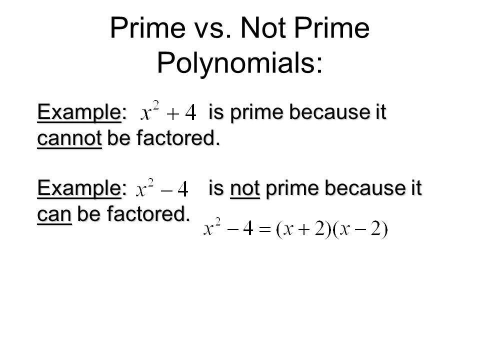 how to know if a polynomial is prime