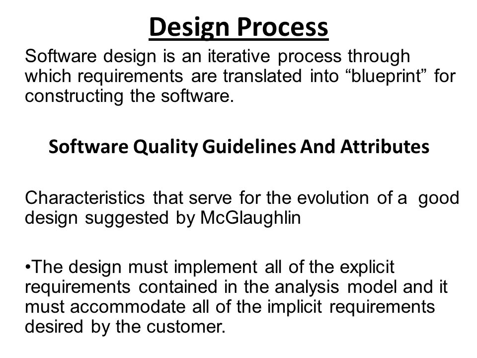 Chapter 8 design concepts ppt video online download design process software quality guidelines and attributes malvernweather Images