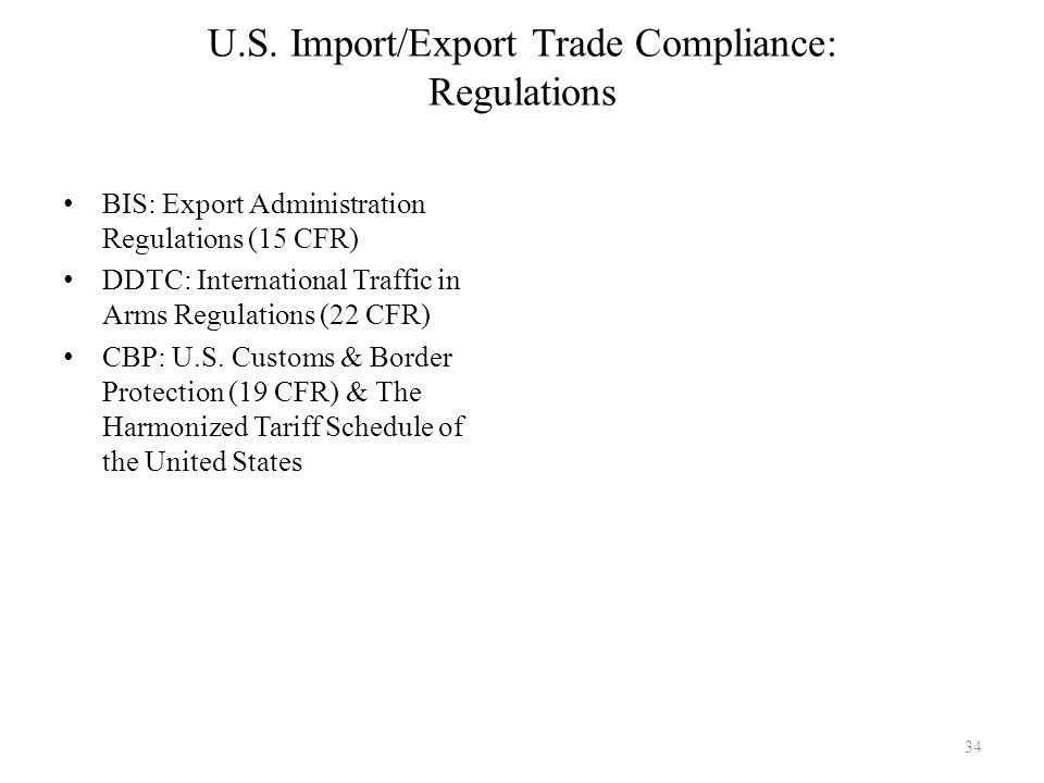 Introduction to global supply chain management module six - Bureau of export administration ...