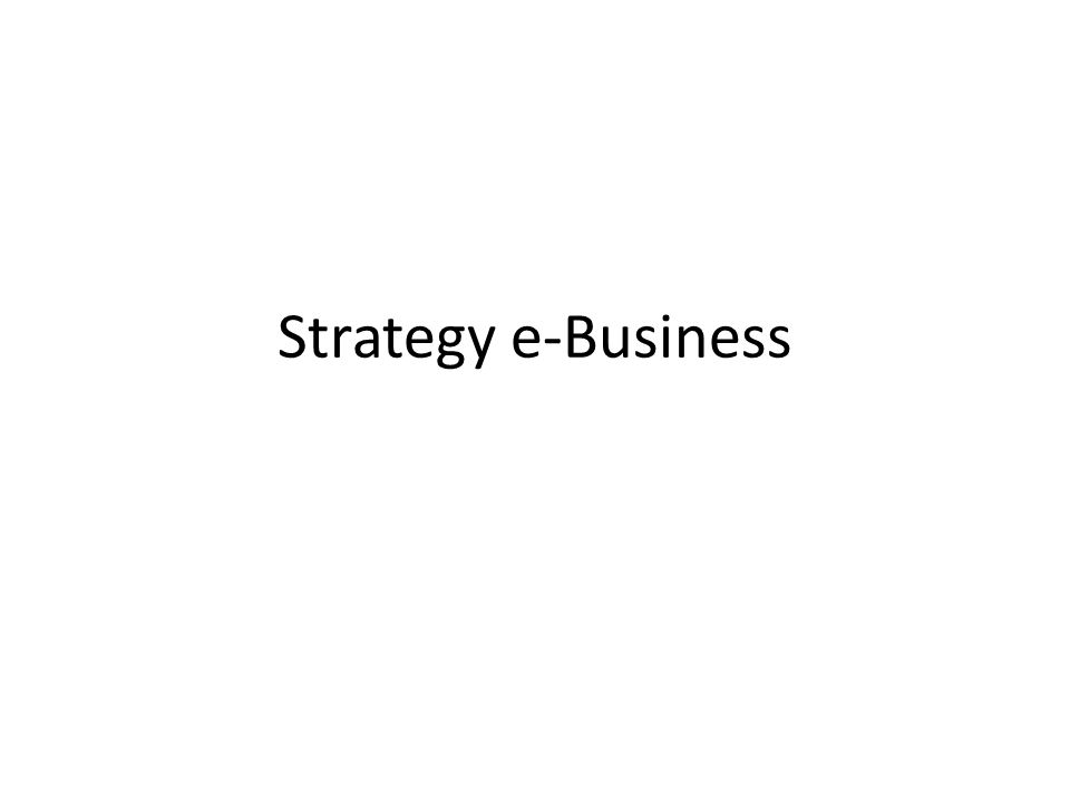 Strategy e-Business