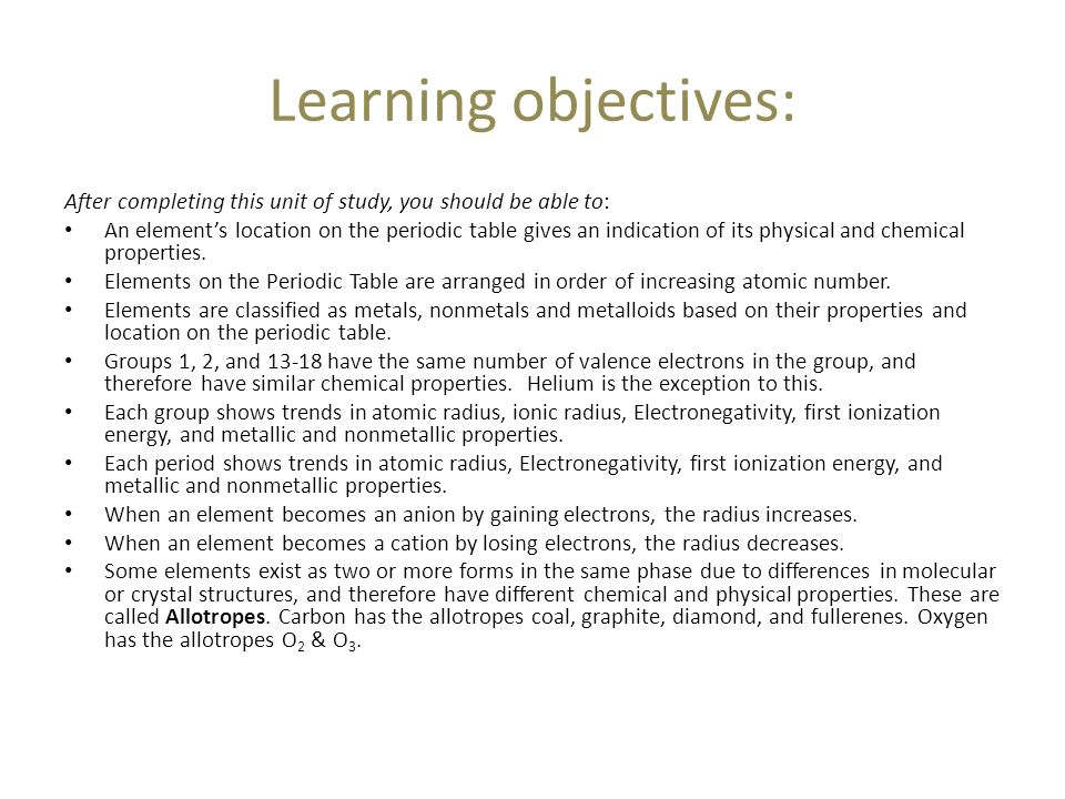 Learning objectives after completing this unit of study you learning objectives after completing this unit of study you should be able to urtaz Images