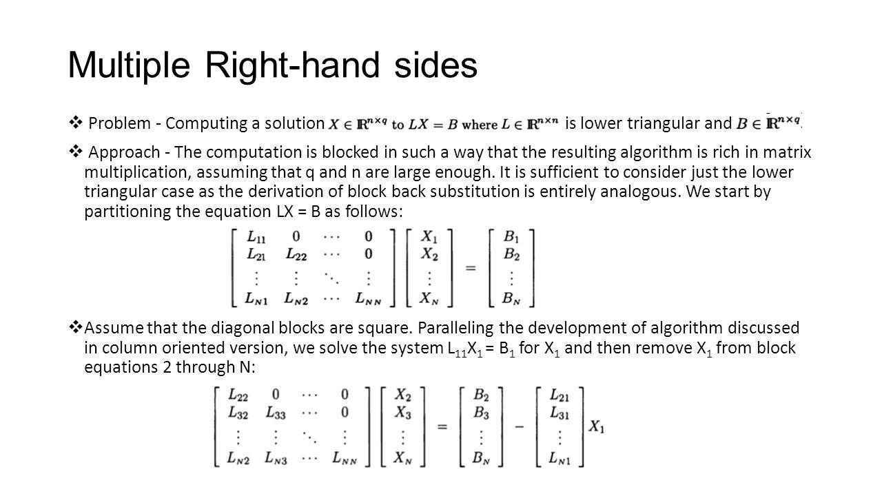 how to find lower triangular matrix