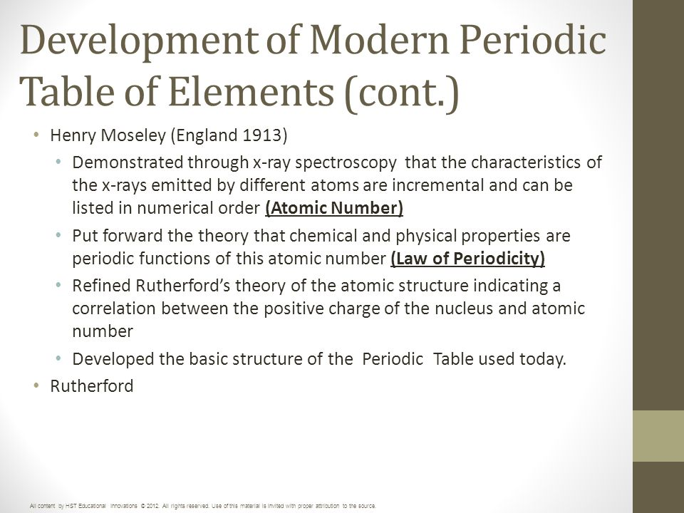 Unit 3 periodic table of elements ppt download development of modern periodic table of elements cont urtaz Gallery