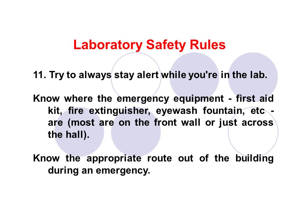 1 Lab Safety And Rules Ppt Video Online Download