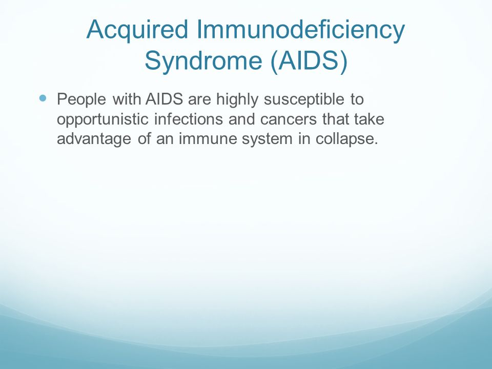 an analysis of acquired immunodeficiency syndrome aids Clonal analysis of t lymphocytes in the acquired immunodeficiency  with  acquired immunodeficiency syndrome (aids) and eight healthy.