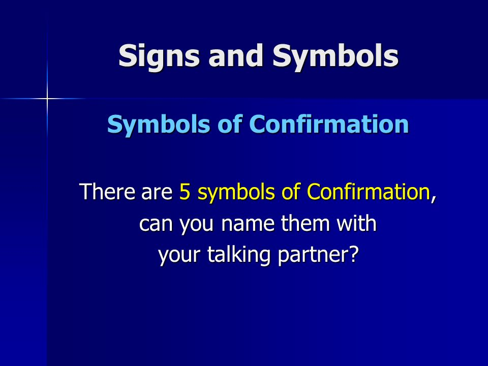 What Can We Remember From Our Topic On Signs And Symbols Ppt