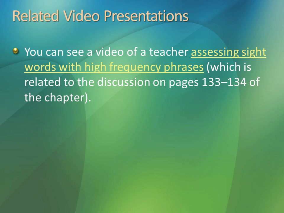 Related Video Presentations