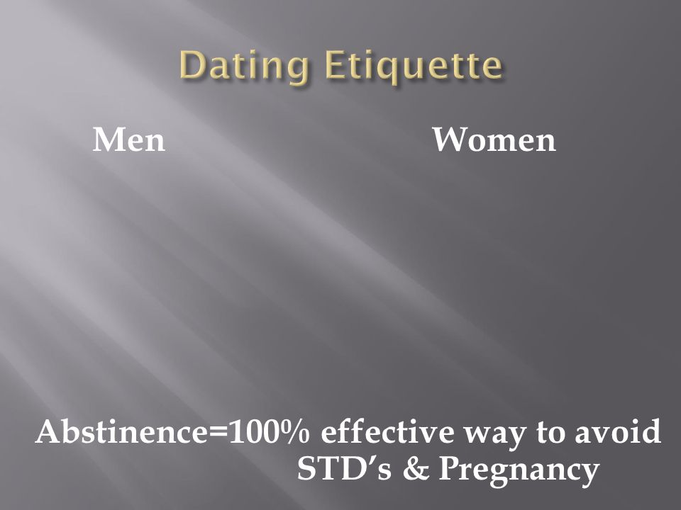 dating etiquette for young men