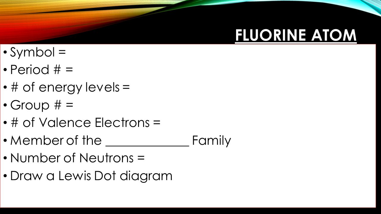 Putting atoms together ppt download 25 fluorine biocorpaavc Gallery