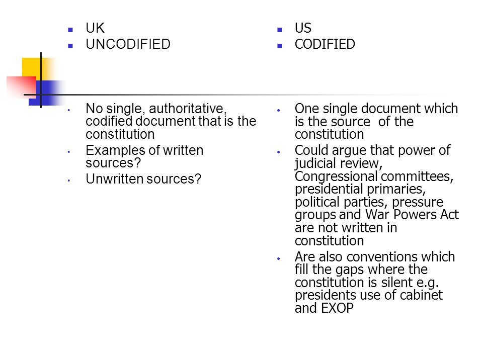 constitution of uk and usa Comparative study of indian and usa constitution comparative study of american and indian constitution american constitution is shortest and second oldest, where as india 's is lengthiest constitution in the universe.