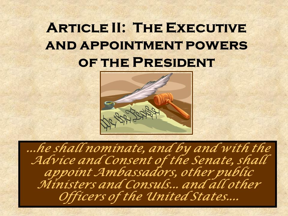 Presidential Appointments: Process and Politics - ppt download