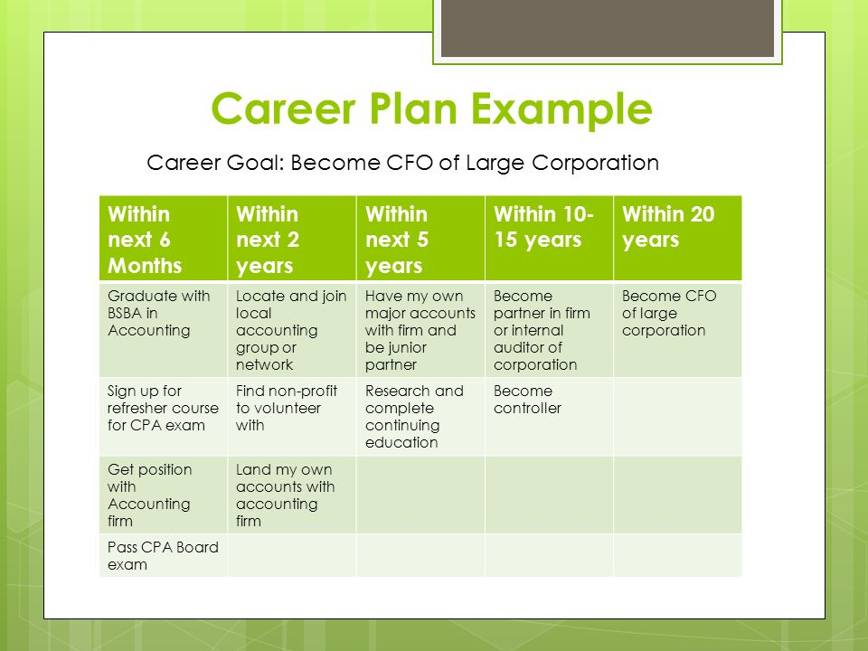 5 year career development plan template gallery template for Five year career development plan template