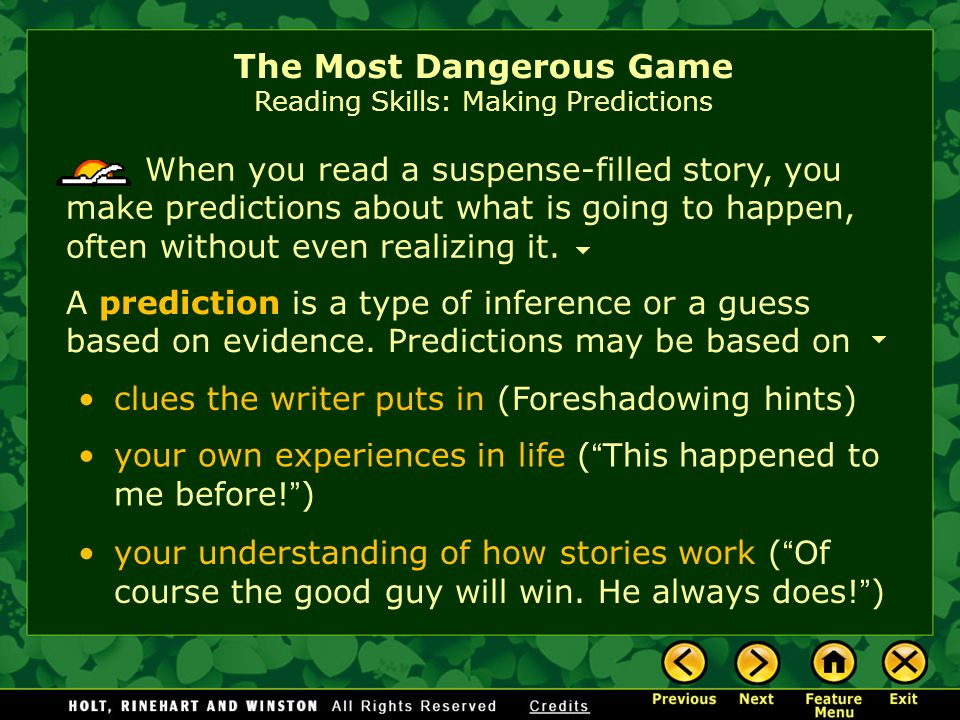 close reading most dangerous game How does richard connell create suspense in his classic short story the most  dangerous game your students will delve into this question using this close.
