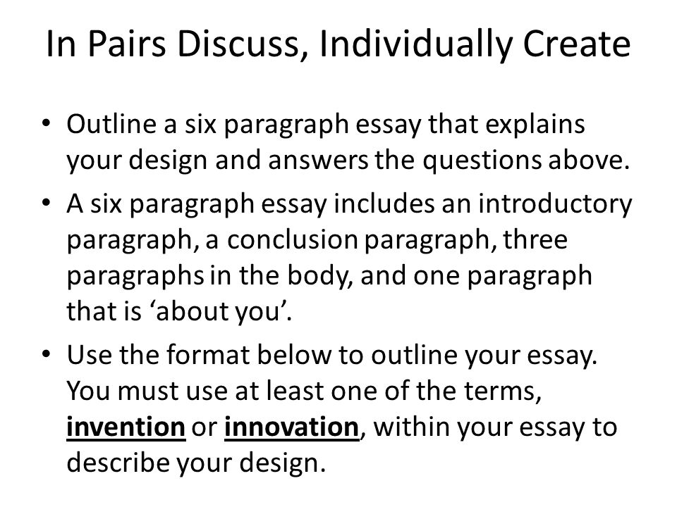 how to write a six paragraph essay