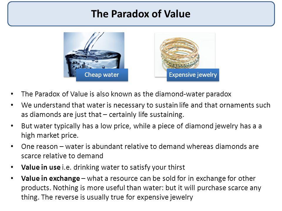 diamond water paradox 1 answer to how does marginal analysis resolve the paradox, diamond-water paradox - 263546.